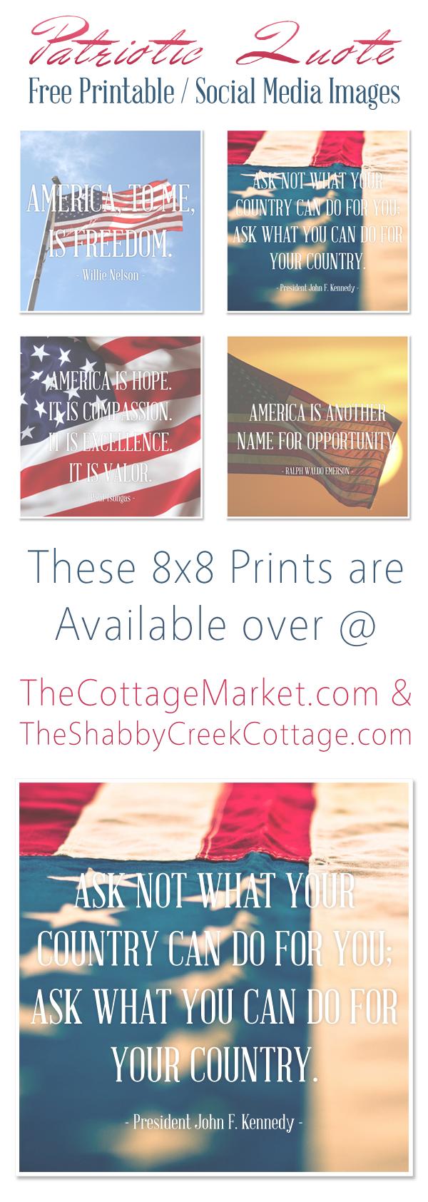 Free Patriotic Quotes Printables