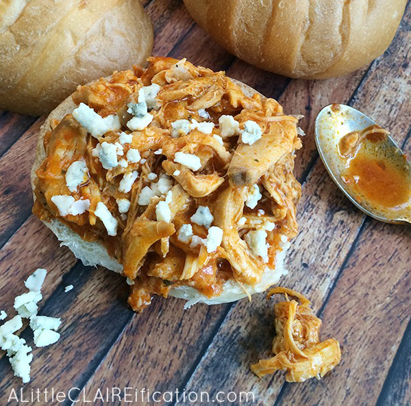 simple three ingredient recipe for buffalo chicken sliders