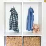 easy ikea hack: billy bookcase to mini-mudroom