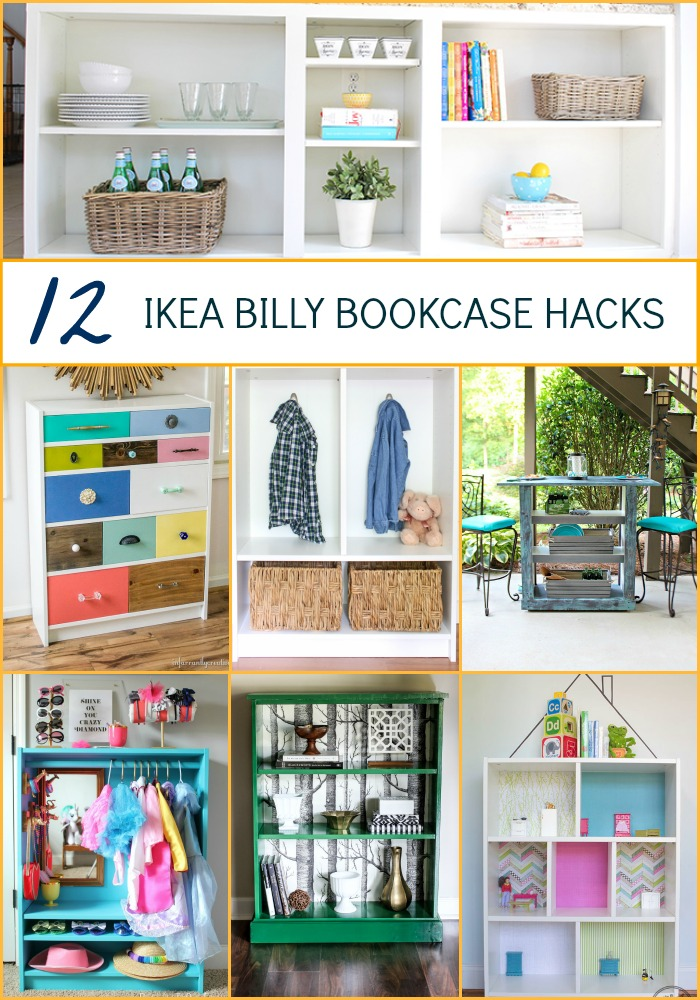 ikea hacks 12 billy bookcase ideas - Ikea Bookshelves Ideas