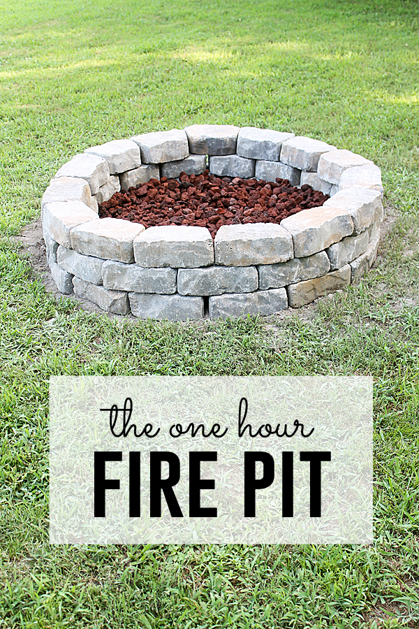 Fire Pit Project (you can do in one hour!) on Diy Outdoor Fire id=13444