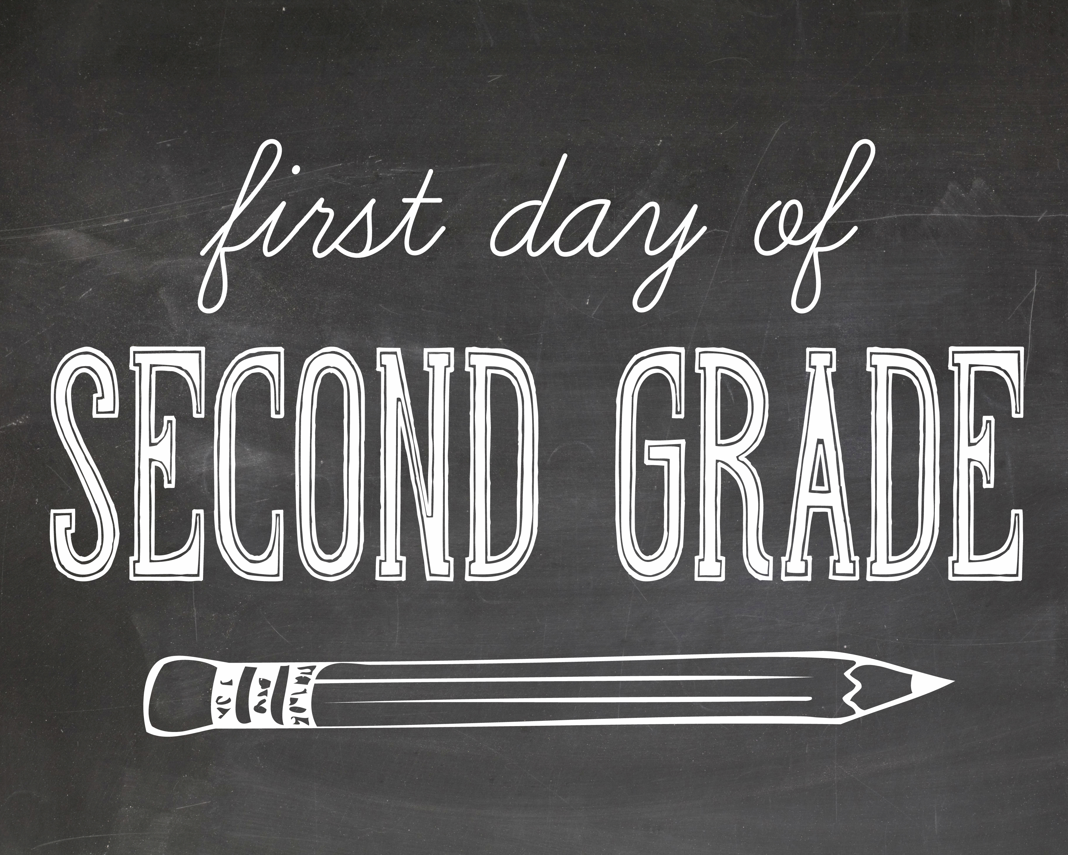 It's just an image of Nerdy First Day of 2nd Grade Printable Sign