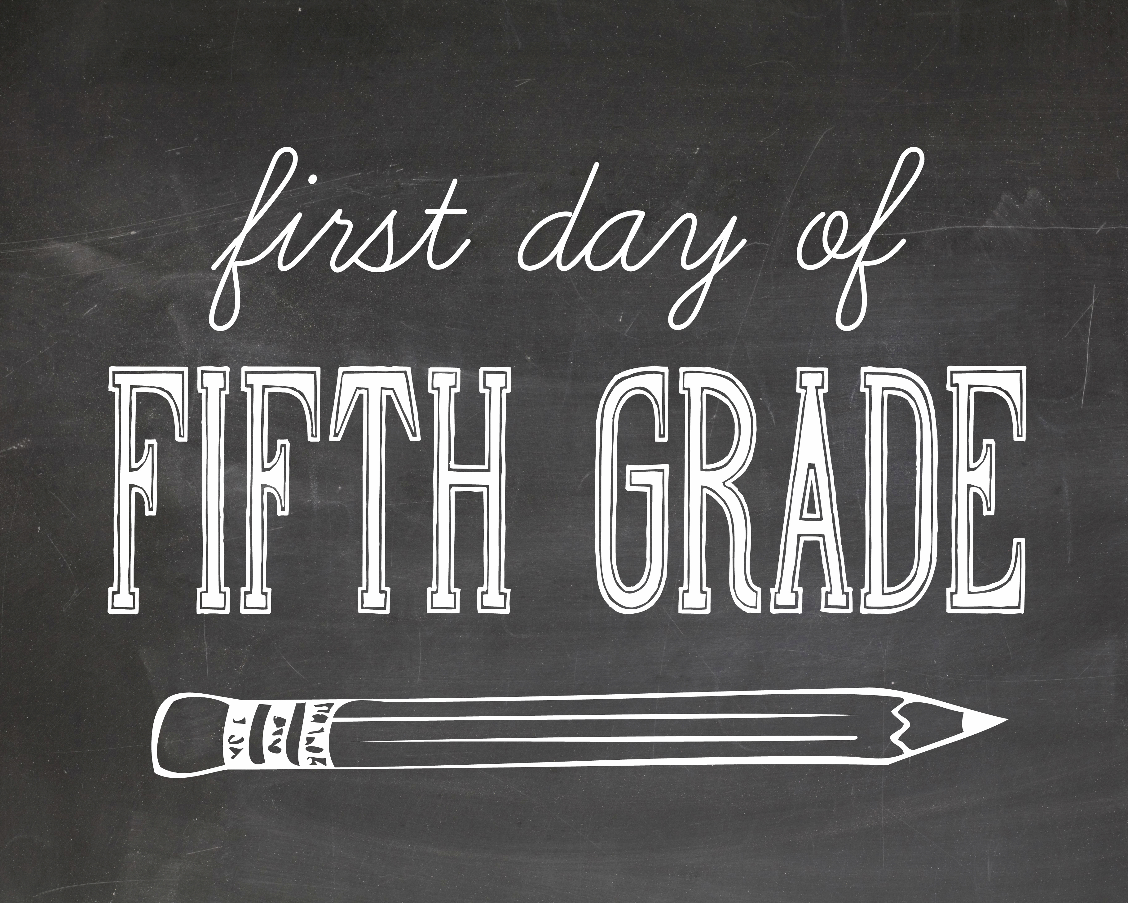 Obsessed image inside first day of 5th grade printable