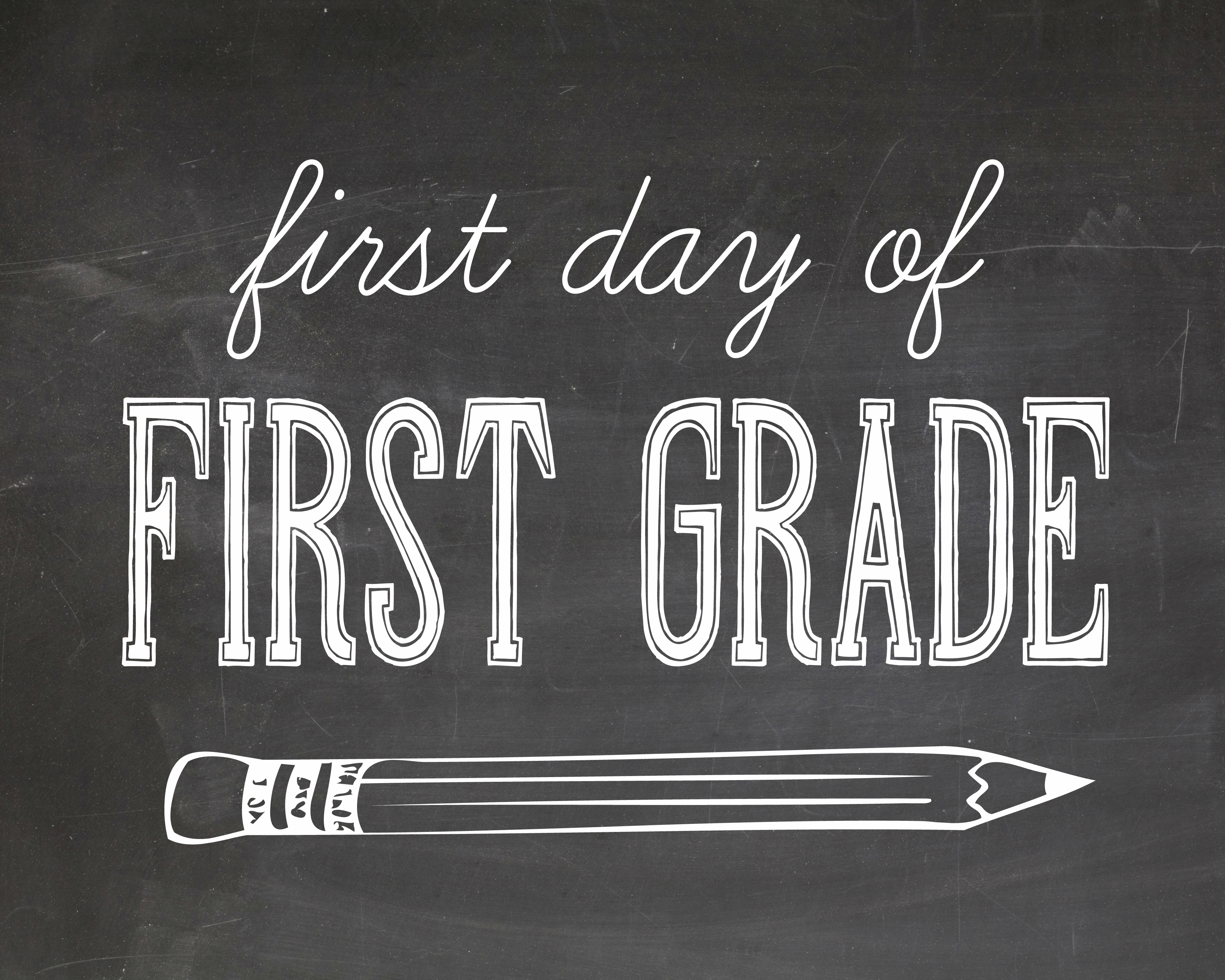 photograph about First Day of 3rd Grade Sign Printable referred to as Very first working day of college or university pictures printables