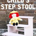 DIY child's step stool - free building plans