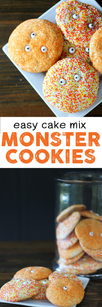 easy cake mix monster cookies