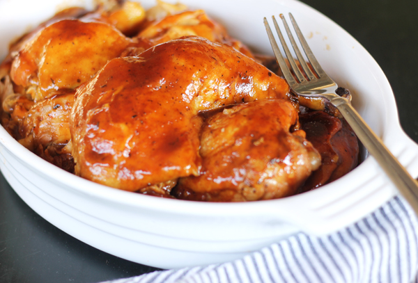 Bourbon BBQ Crock Pot Chicken Recipe