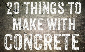 things to make with concrete