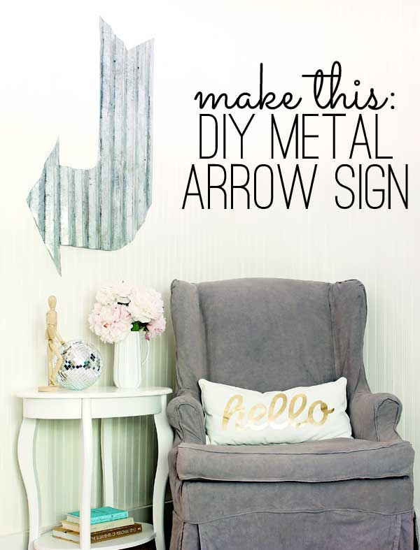 metal arrow farmhouse style DIY signs