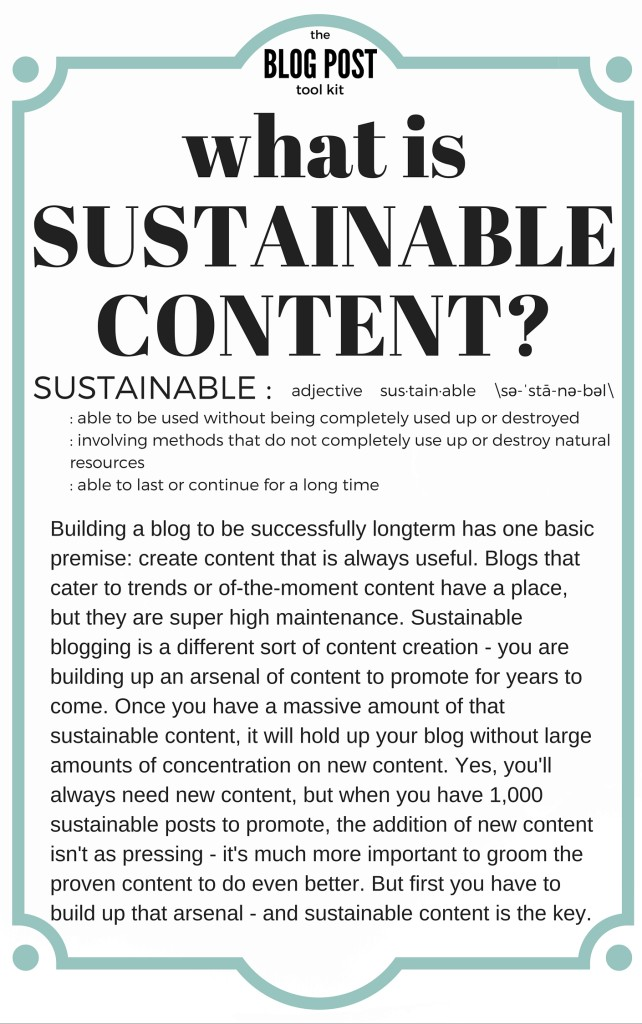 Want to increase your page views? Sustainable content is the key!