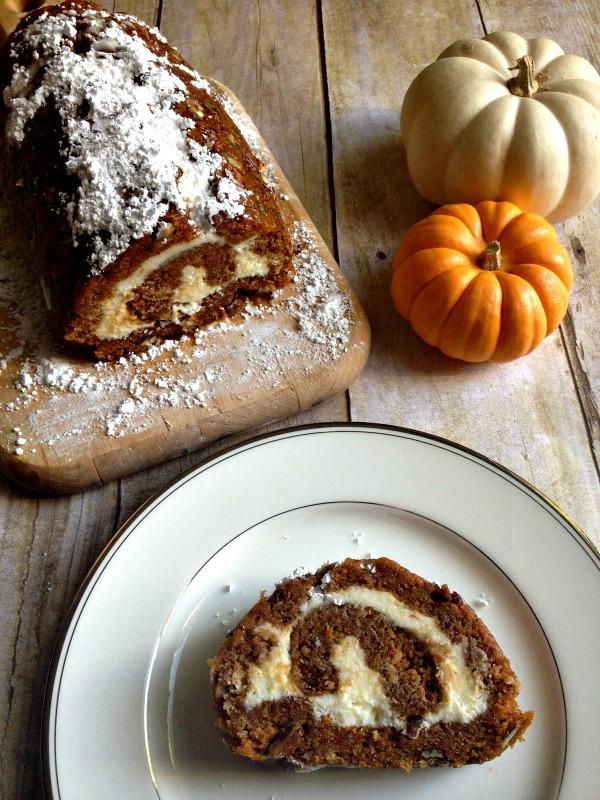 Easy Gluten Free Pecan Pumpkin Roll