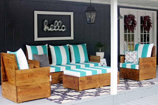 How To Build A Modern Style Outdoor Sofa. Beautiful Project! Doesnu0027t Even