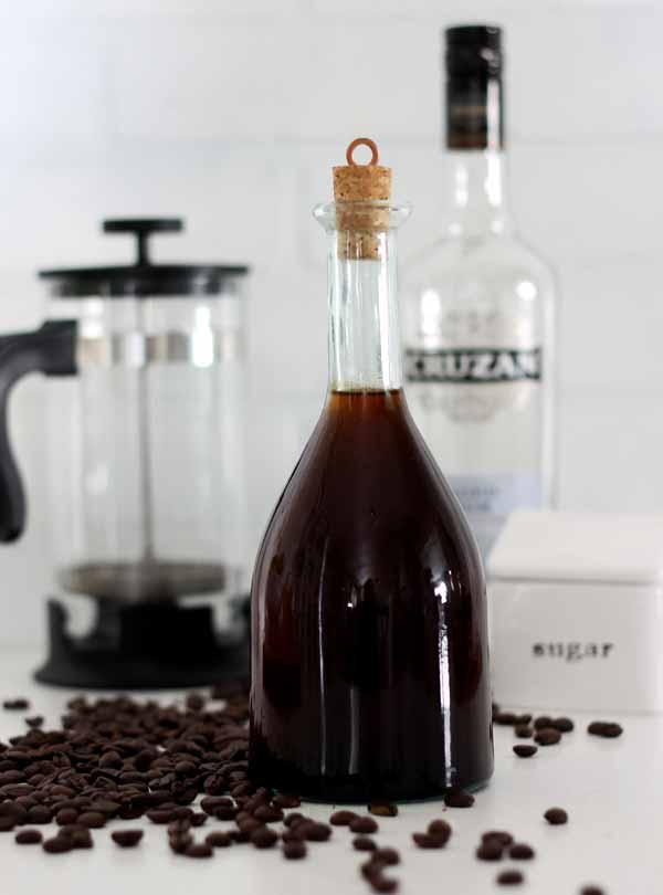 Quick and easy method to make homemade kahlua in just a few minutes - no waiting before using!