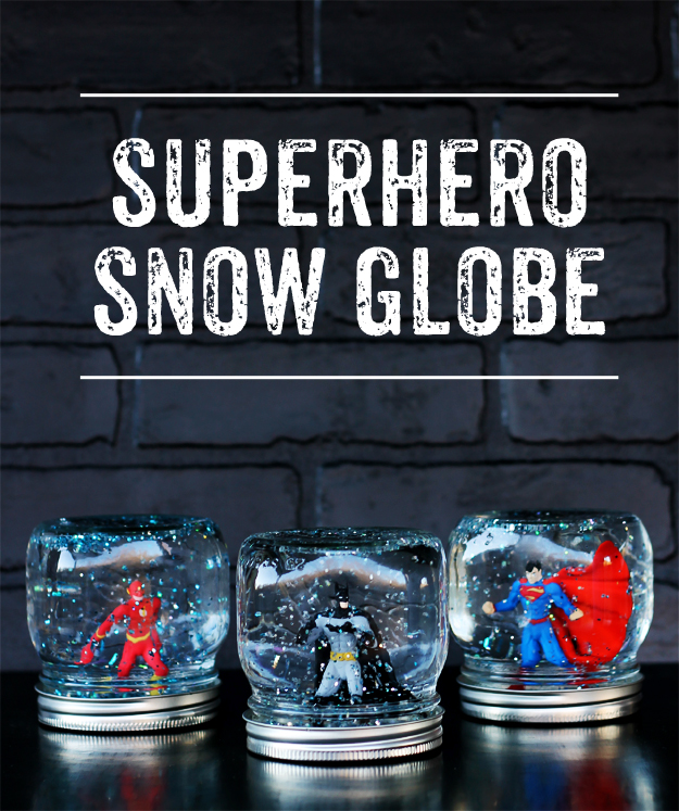 DIY Superhero Snow Globe