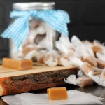 Four ingredient homemade caramel candy that is fool proof. The perfect gift for neighbors (or myself!)