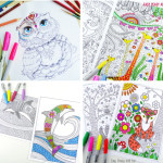 101 free printable coloring pages - I could spend hours doing this!
