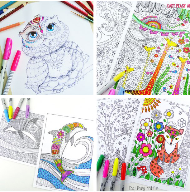 101 free printable coloring pages i could spend hours doing this so many beautiful - Free Easy Coloring Pages