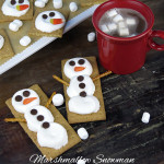 Snowman smores - what a fun idea for the kids!