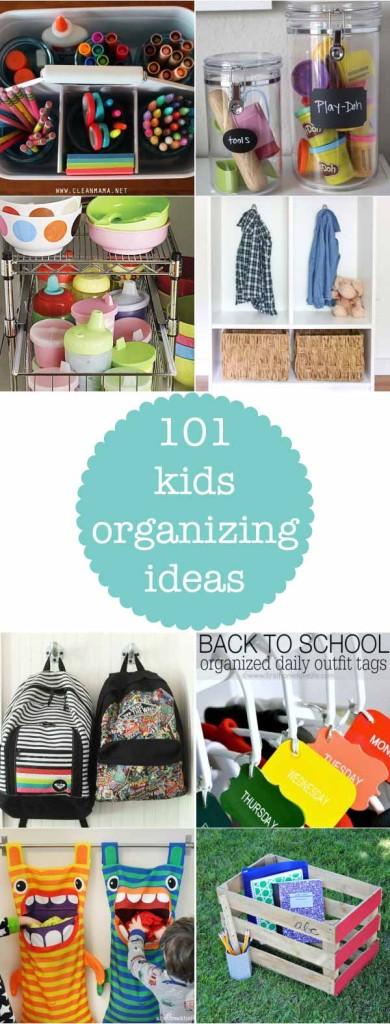 101 kids organizing ideas - so many great ideas in this collection! Tons of great kids organizing ideas!