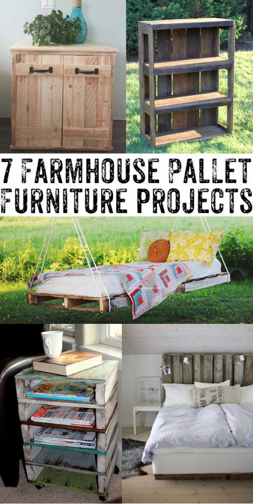 Love these farmhouse style pallet furniture ideas - such great ways to get a stylish look for pennies! I would have never known part of these were pallet furniture.