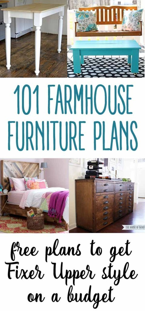101 free farmhouse style furniture plans