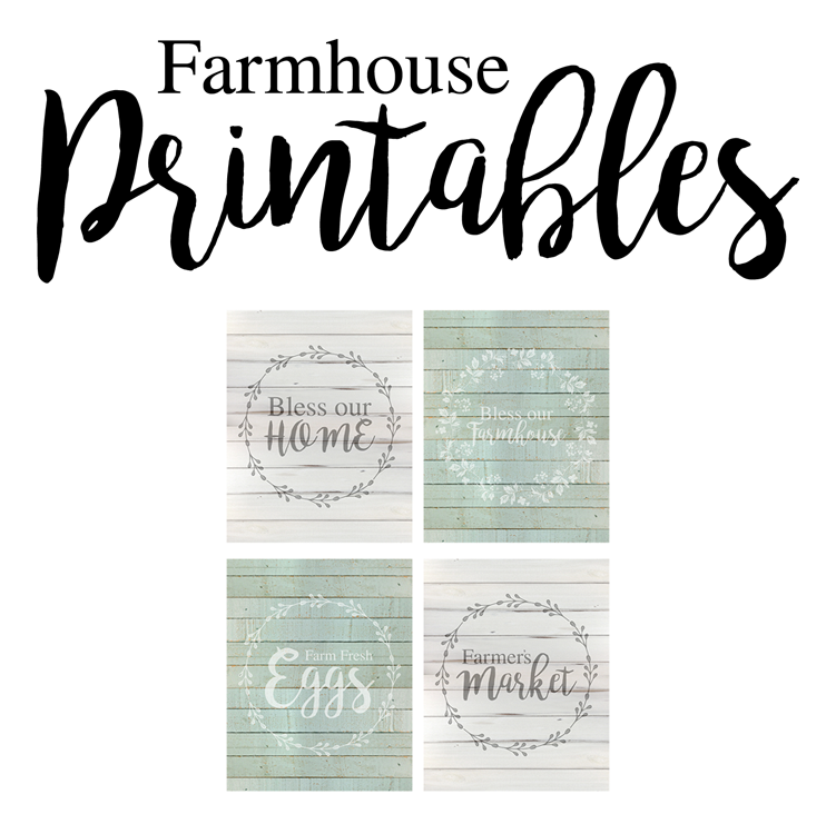 Free Farmhouse Style Printables