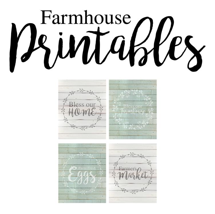 Free Farmhouse Style Printables