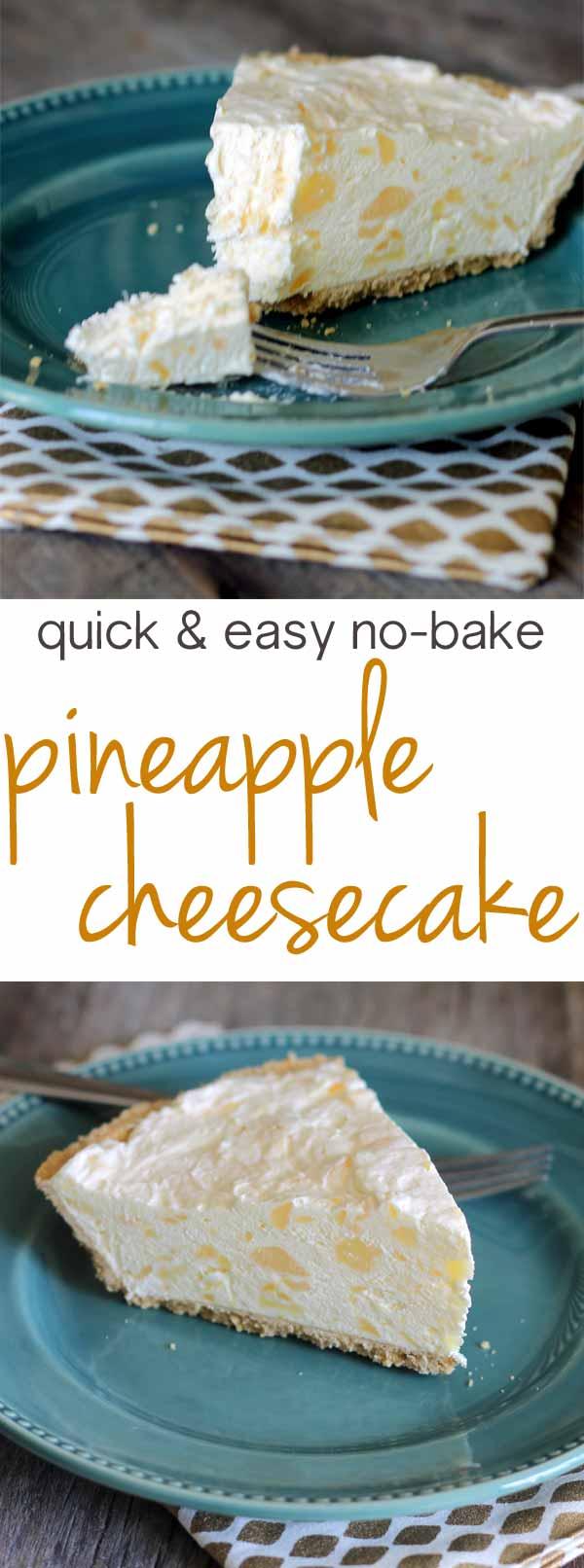 Pineapple Cheesecake A No Bake 5 Minute Recipe
