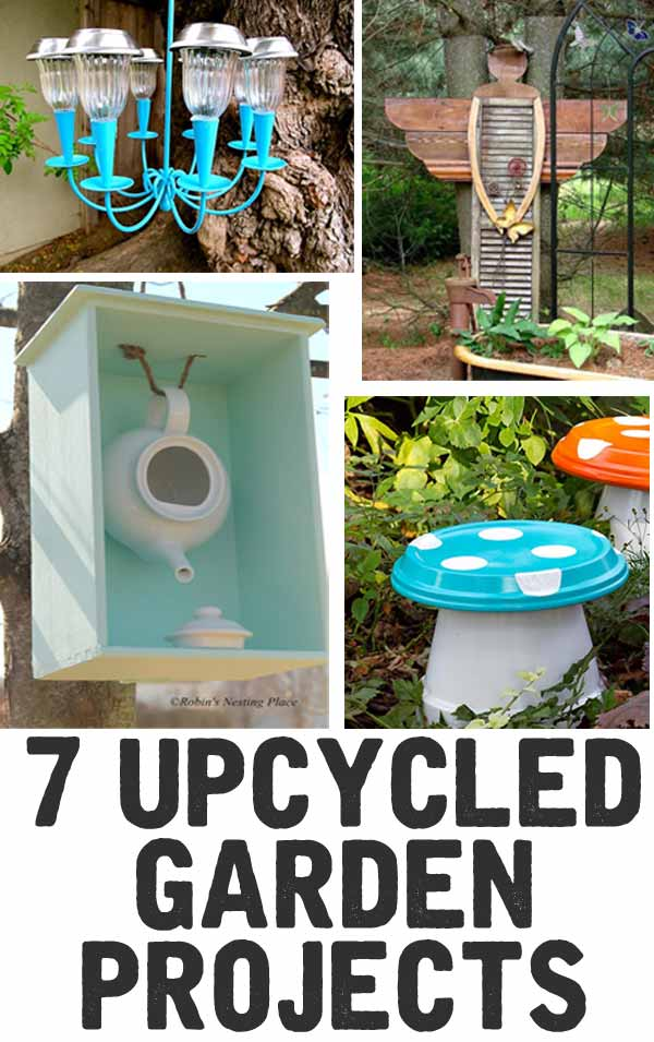 Fun garden projects  - love these unique upcycle ideas. I love that they all reuse something in a new way!