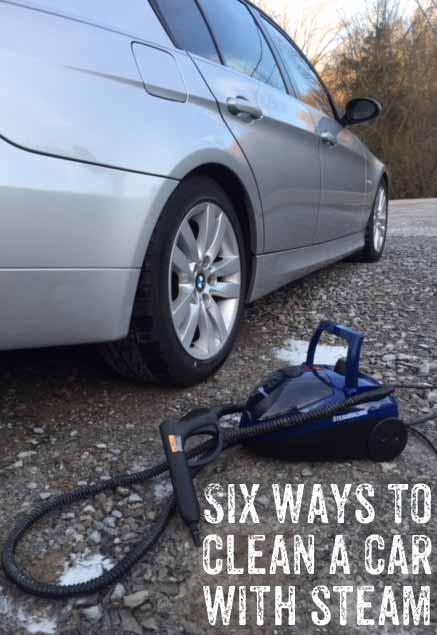 six ways to clean your car with steam homeright