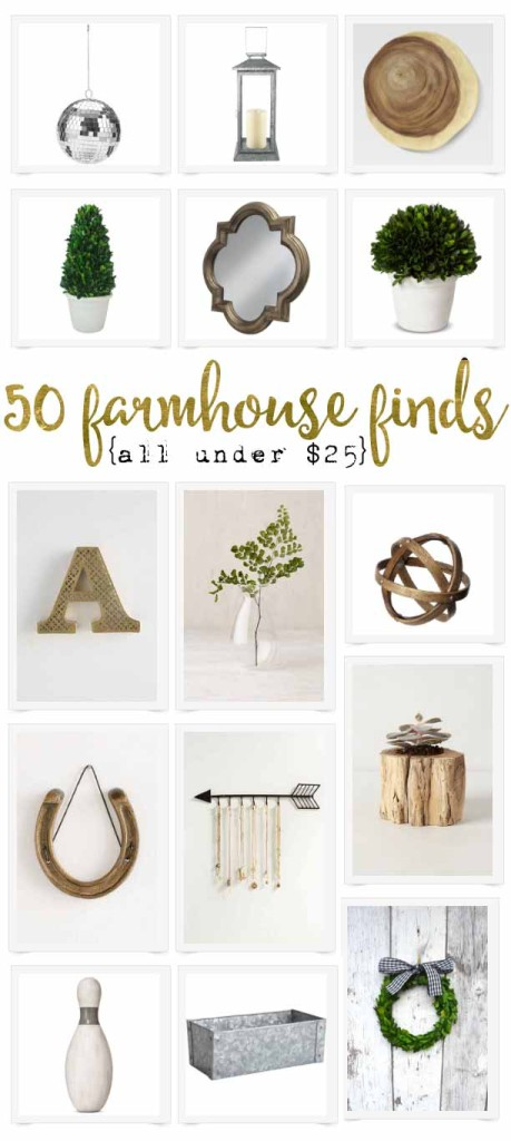 So many great resources for farmhouse decor - and all under $25!