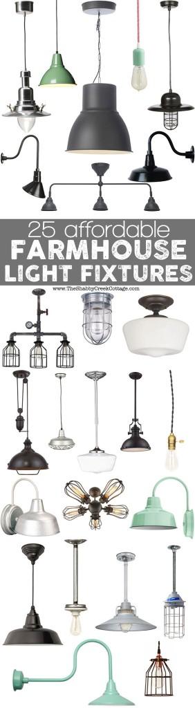 farmhouse style lights
