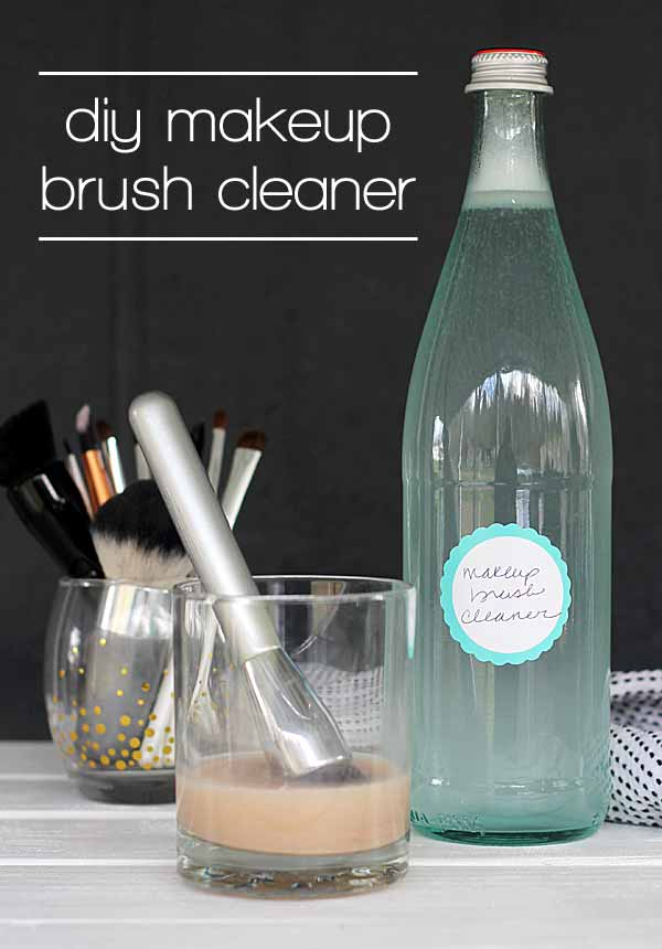 I didn't even know you could make your own makeup brush cleaner. Definitely trying this one because my brushes never get clean enough!