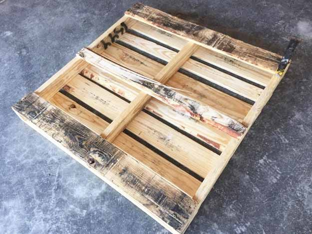 DIY Pallet Tool Organizer