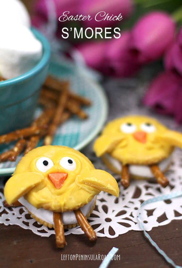 These would be so sweet for Easter - chick s'mores!