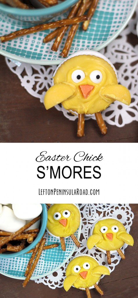 Fun treat for Easter: chick smores