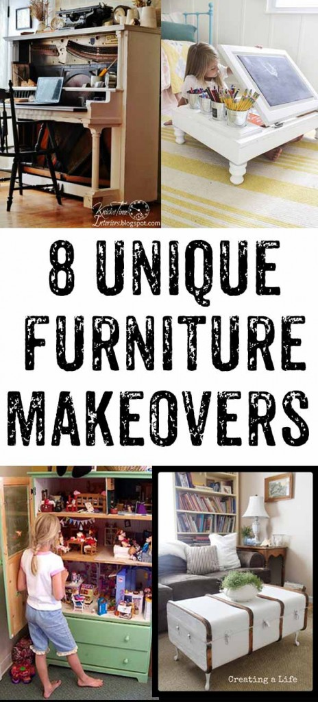 Eight great furniture flips - these ideas are SO amazing!