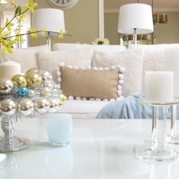 no sew burlap pillow living room pic
