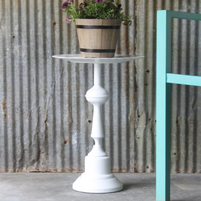Turn a Lamp into a Side Table