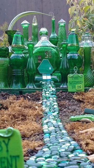 Wizard of Oz bottle garden