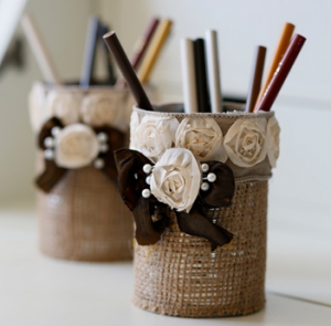 Burlap Lamp Shade Easy_to_Make_Burlap_Pencil_Holder