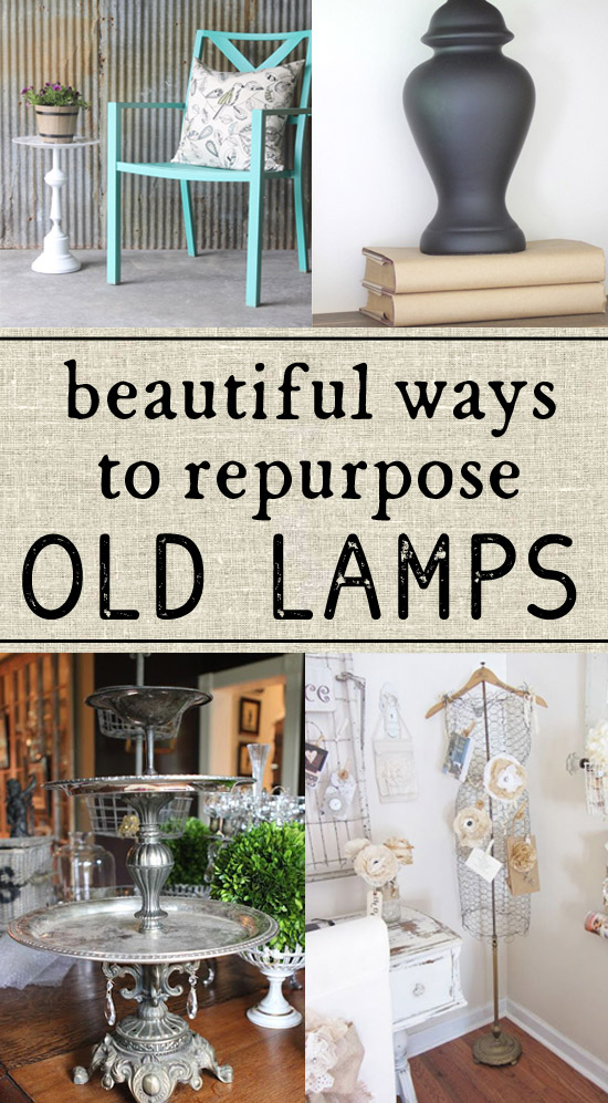 Some wonderful ideas on how to repurpose old lamps