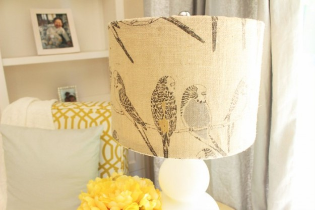 burlap lamp shade close up_sm