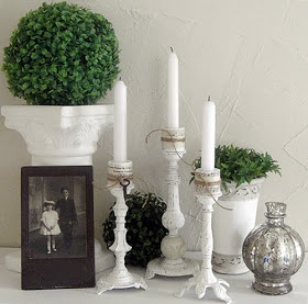 Ideas to repurpose old lamps - turn them into candlesticks