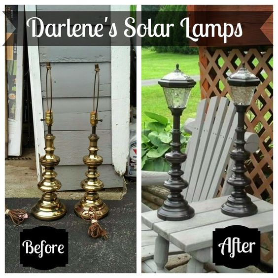 Ways to use old lamps: turn them into solar lamps