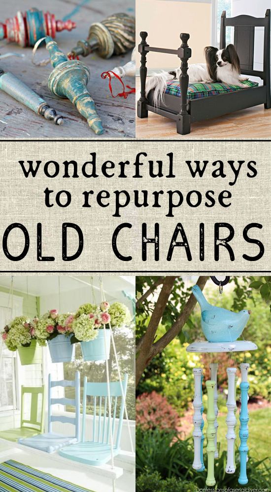 So many great ideas for ways to reuse old chairs - definitely trying the last one!