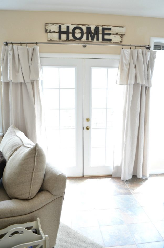 beautiful drop cloth curtains - tons of other great drop cloth project ideas, too!