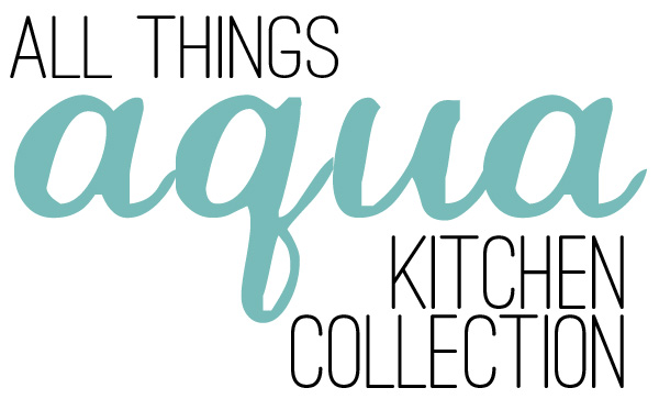 Oh I LOVE this kitchen collection - it's in my favorite color AQUA! I really want the refrigerator and tea kettle.... who am I kidding? I want this entire kitchen collection!