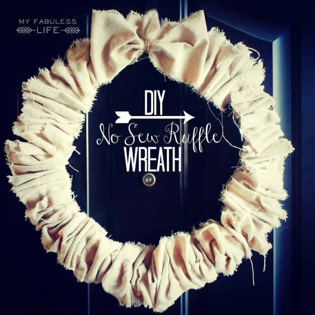 What a great idea for a wreath! Tons of great drop cloth project ideas here. Pinning to get back to later.