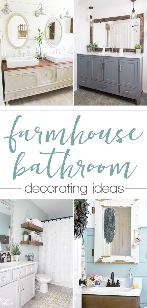 farmhouse bathroom decorating ideas - so many great ideas (and all are pretty & easy!)